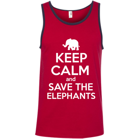 Keep Calm and Save the Elephants Men's Tank Top