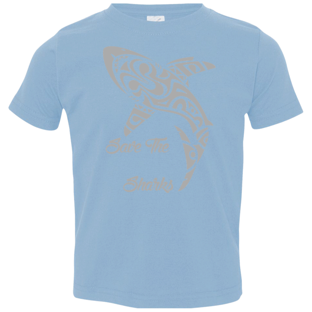 Save the Sharks Tribal Toddler Jersey T-Shirt