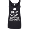 Image of Keep Calm and Save the Elephants Women's Tank Top