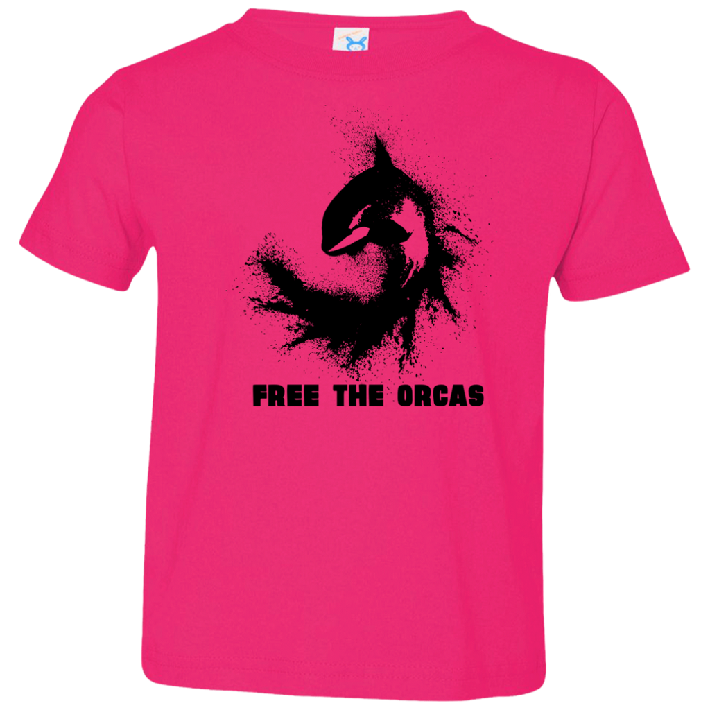 Free The Orcas Toddler Jersey T-Shirt