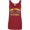 Image of Save A Species Save the Elephants Awareness Women's Tank Top