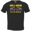 Image of Save the Species Save the Elephants Awareness Toddler Jersey T-Shirt