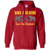 Image of Save the Species Save the Elephants Awareness Hoodie