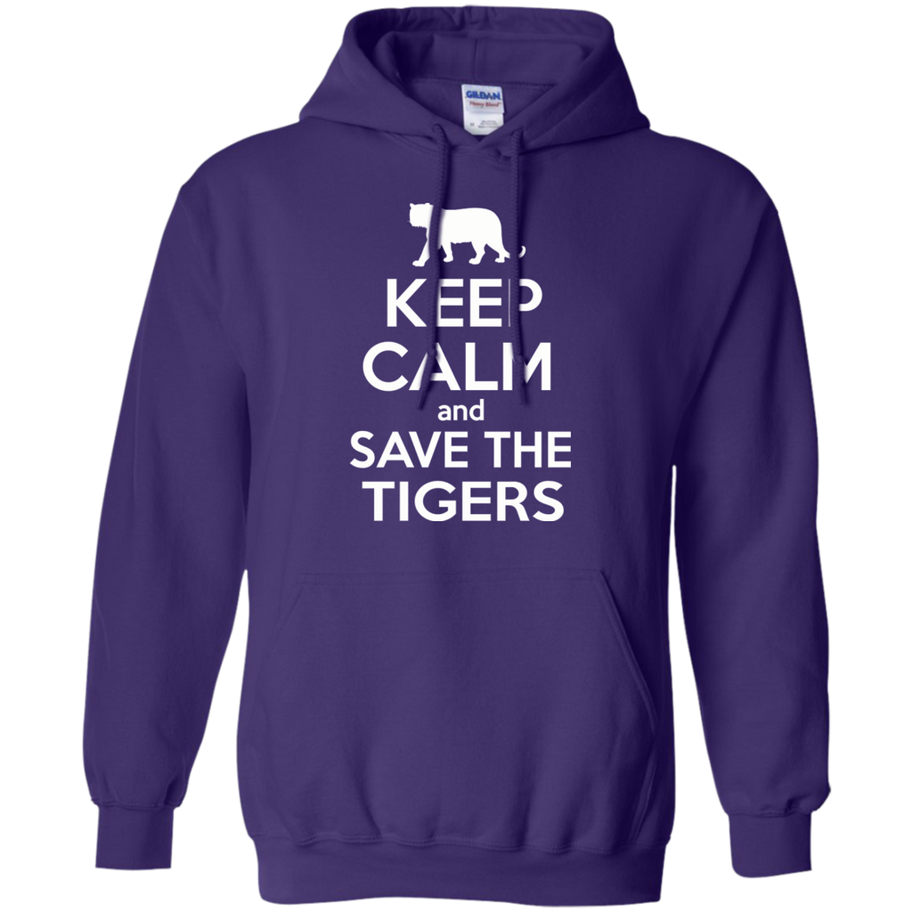 Keep Calm And Save the Tigers Awareness Hoodie