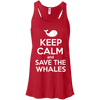 Image of Keep Calm And Save the Whales Women's Flowy Tank Top