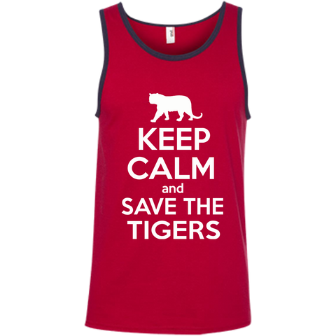 Keep Calm And Save the Tigers Awareness Men's Tank Top