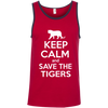 Image of Keep Calm And Save the Tigers Awareness Men's Tank Top