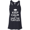 Image of Keep Calm And Save the Turtles Tank Top Flowy Tank Top