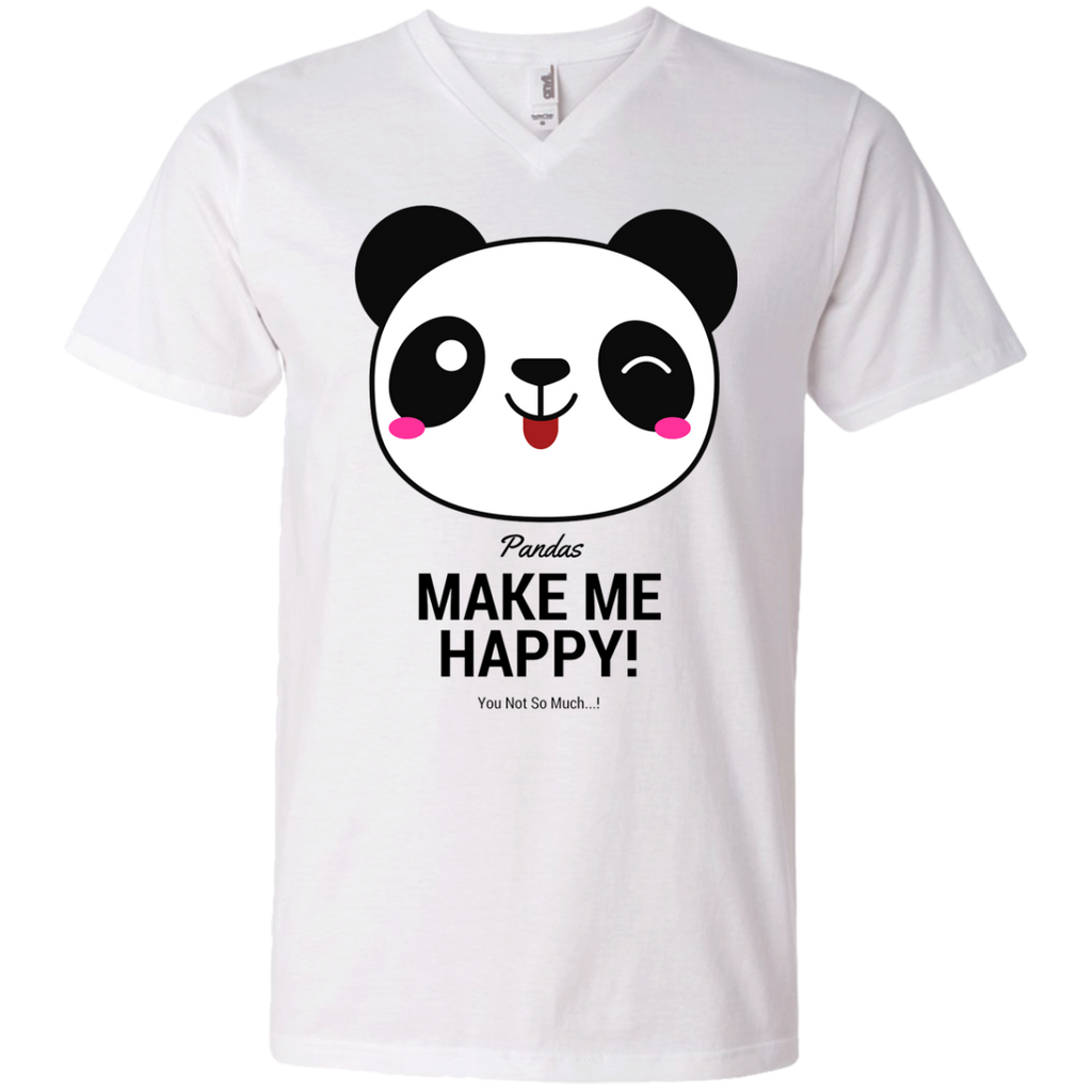 Pandas Make Me happy, You Not so Much Men's V-Neck T-Shirt