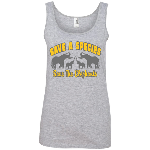 Save A Species Save the Elephants Awareness Women's Tank Top