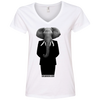 Image of Talk About Elephants in Politic's Women's V-Neck T-Shirt
