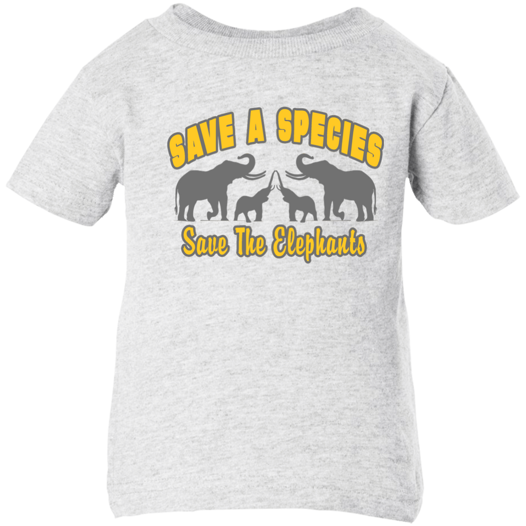 Save A Species Save the Elephants Awareness Infant T-Shirt