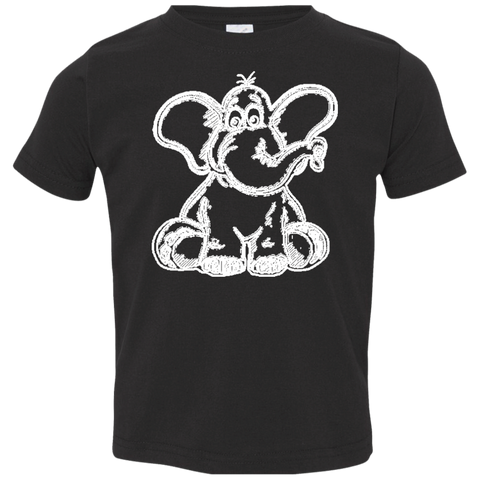 Funny Elephant Stencil Toddler Jersey T-Shirt