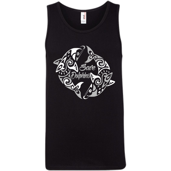 Save Dolphins Awareness Men's Tank Top