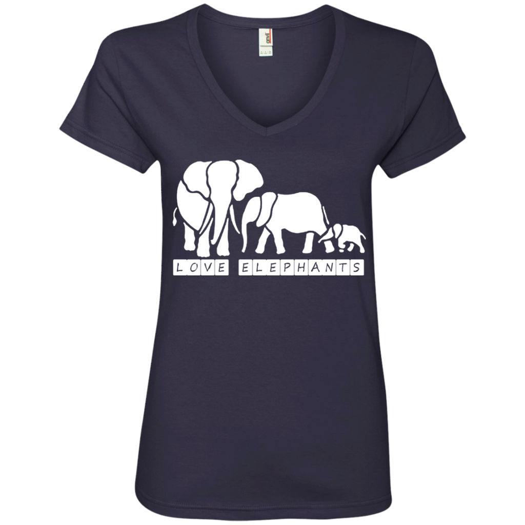 Love Elephants Awareness Women's V-Neck T-Shirt