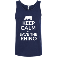 Keep Calm and Save the Rhino Men's Tank Top