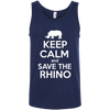 Image of Keep Calm and Save the Rhino Men's Tank Top