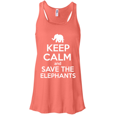 Keep Calm and Save the Elephants Women's Flowy Tank Top