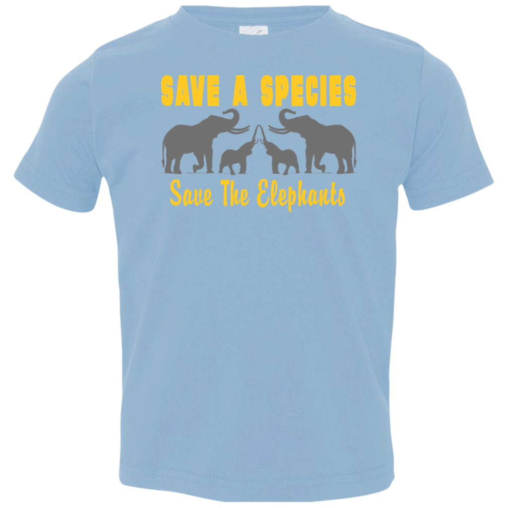 Save the Species Save the Elephants Awareness Toddler Jersey T-Shirt