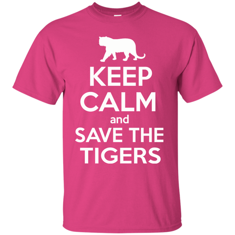Keep Calm And Save the Tigers Awareness Youth T-Shirt