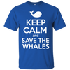 Image of Keep Calm And Save the Whales Youth T-Shirt