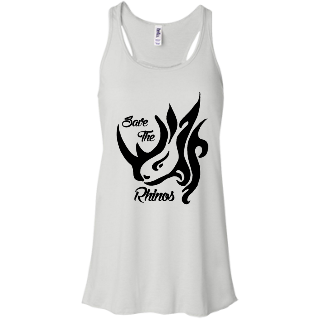 Save the Rhinos Awareness Women's Flowy Tank Top