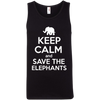 Image of Keep Calm and Save the Elephants Men's Tank Top