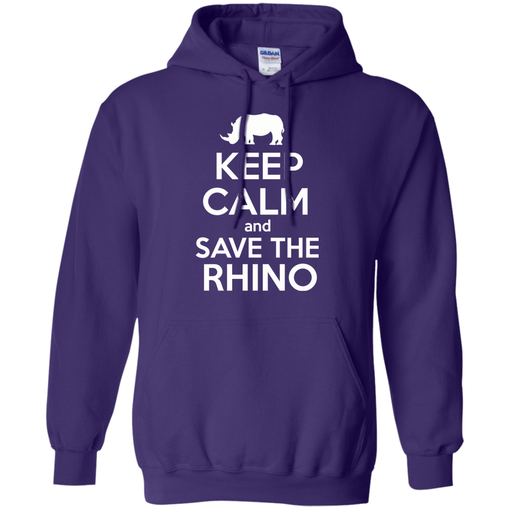 Keep Calm and Save the Rhino Hoodie