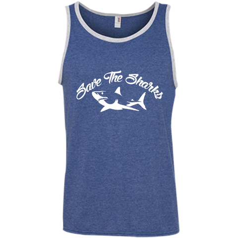 Save the Sharks Men's Tank Top