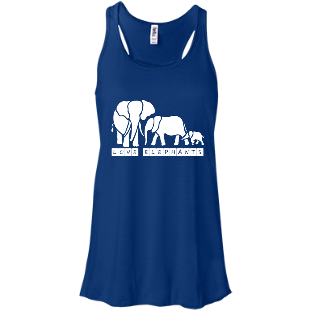 Love Elephants Awareness Flowy Tank Top
