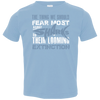 Image of The Thing we Should Fear Most About Sharks is Their Looming Extinction Toddler Jersey T-Shirt
