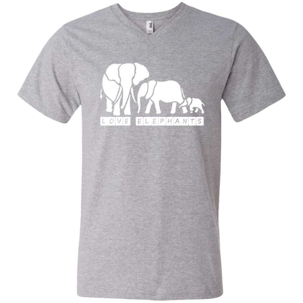 Love Elephants Awareness Men's V-Neck T-Shirt