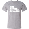 Image of Love Elephants Awareness Men's V-Neck T-Shirt