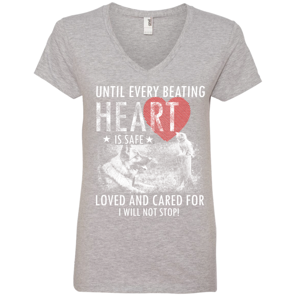 Save & Care for Dog Lovers Women's V-Neck T-Shirt