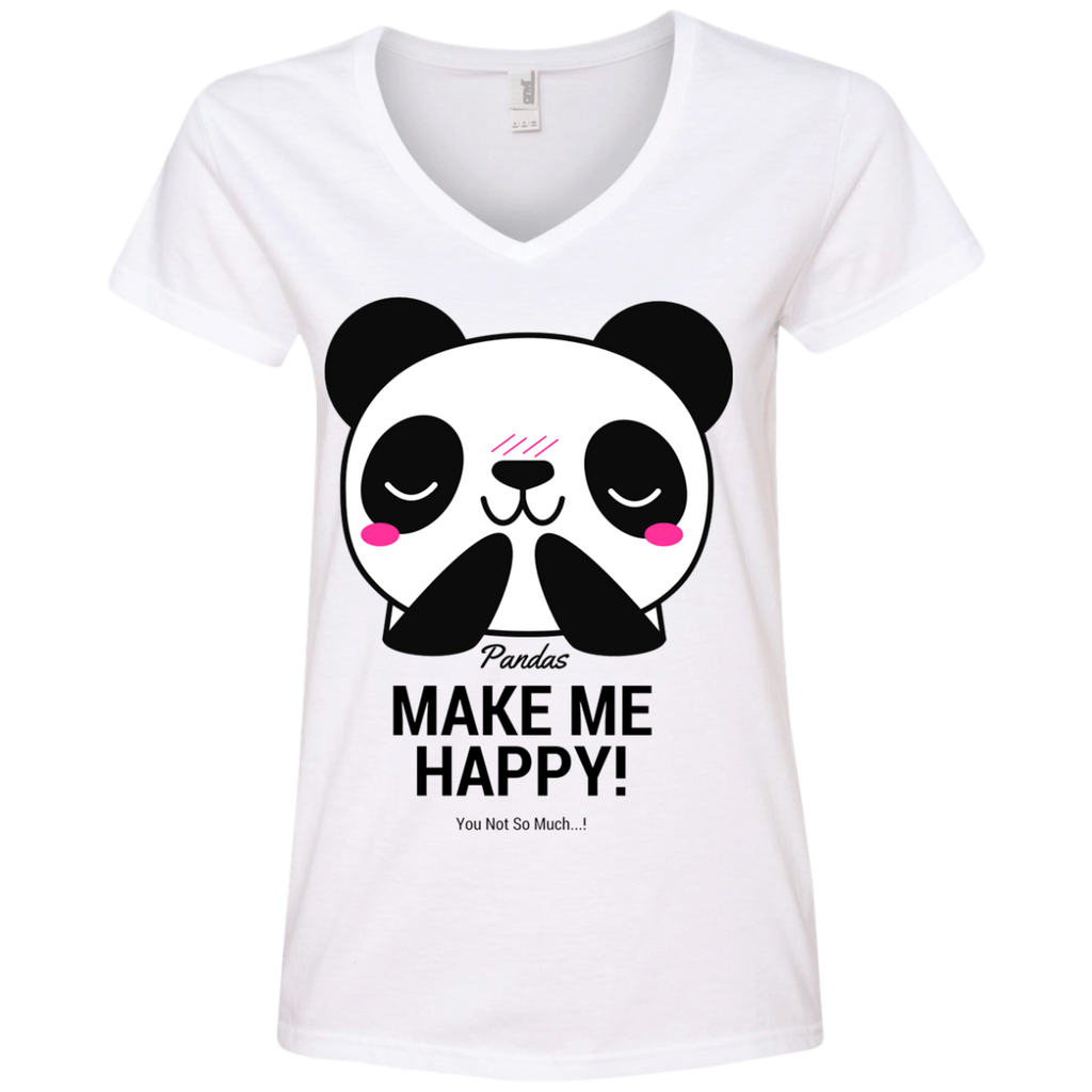 Pandas Make Me happy, You Not so Much Women's V-Neck T-Shirt