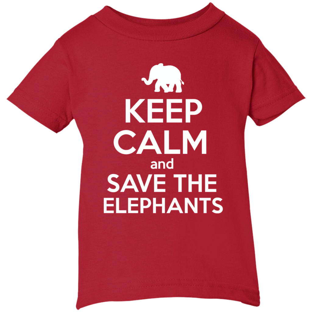 Keep Calm and Save the Elephants Infant T-Shirt