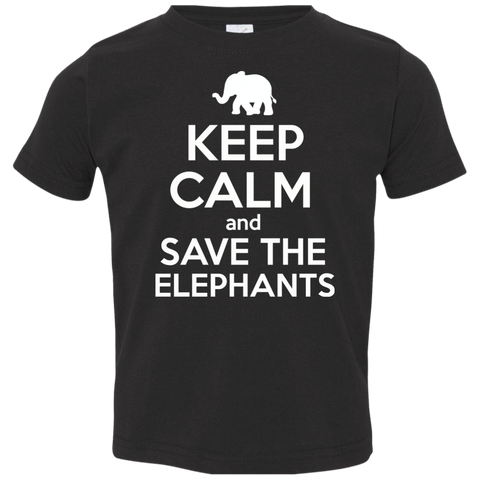 Keep Calm and Save the Elephants Toddler Jersey T-Shirt