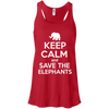Image of Keep Calm and Save the Elephants Women's Flowy Tank Top