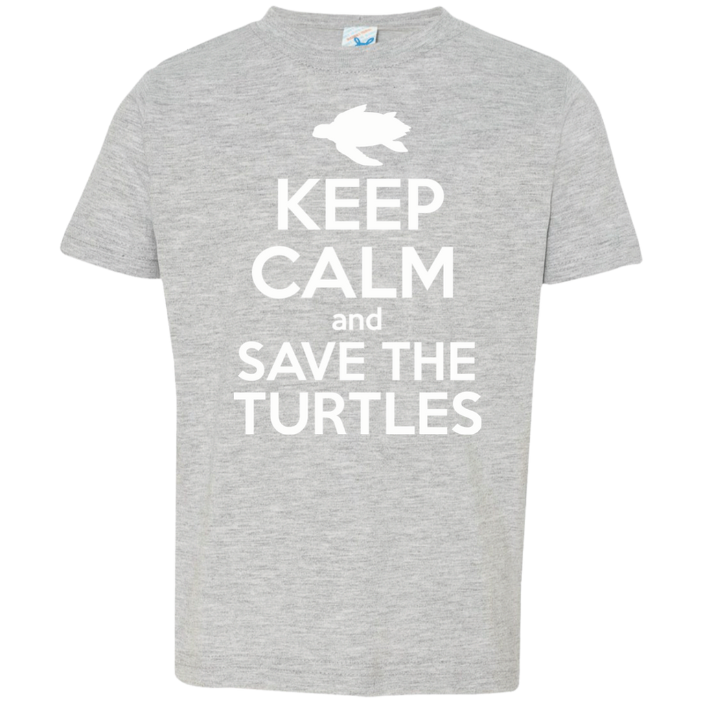 Keep Calm And Save the Turtles Toddler Jersey T-Shirt