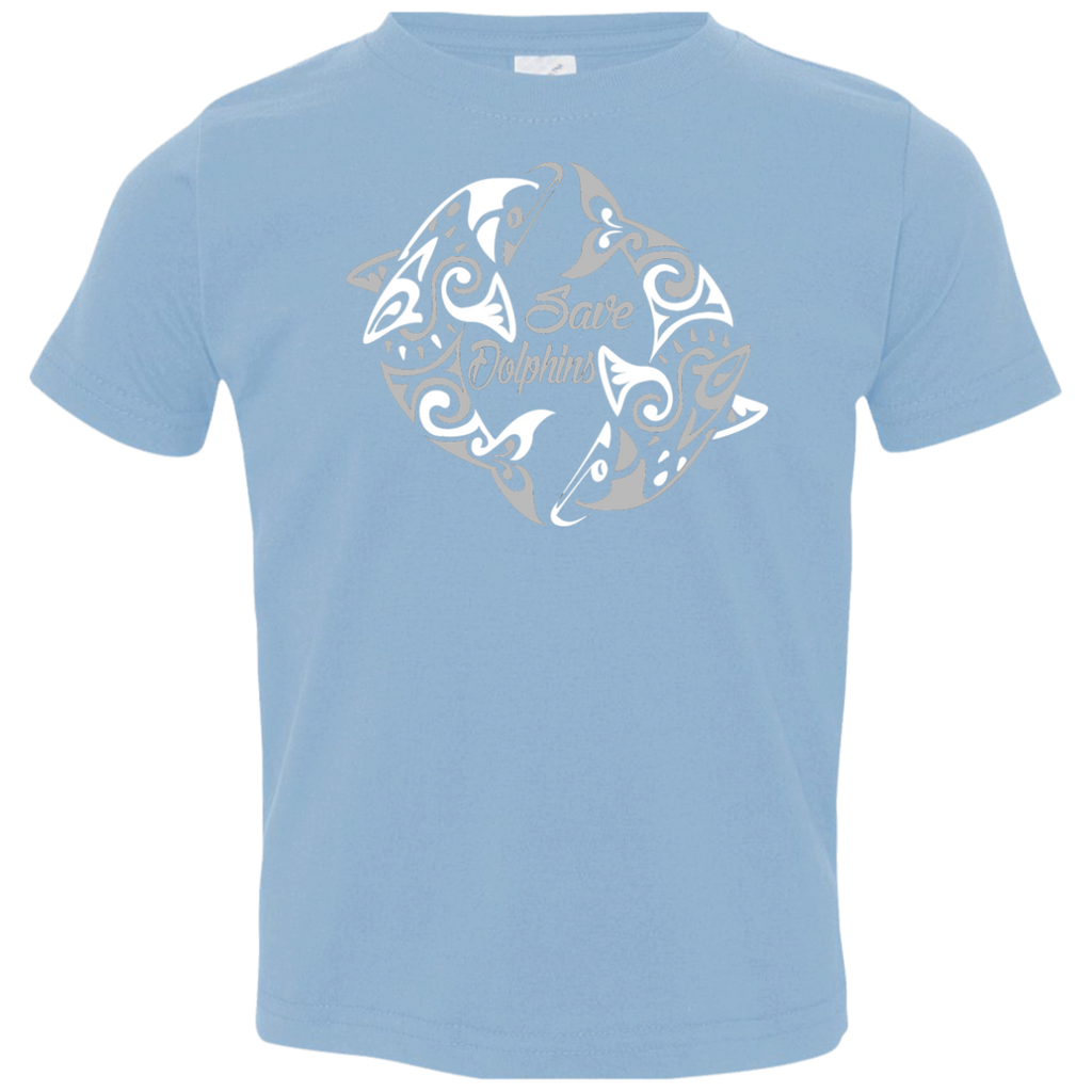 Save Dolphins Awareness Toddler Jersey T-Shirt