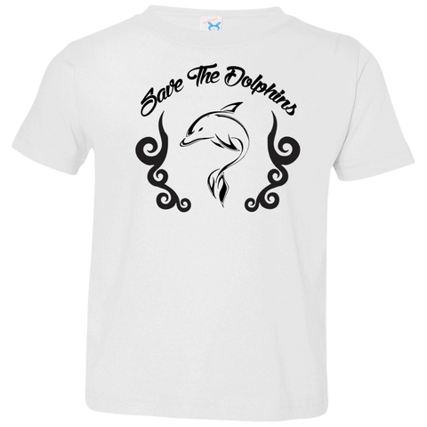Save The Dolphins Awareness Toddler Jersey T-Shirt