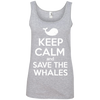 Image of Keep Calm And Save the Whales Women's Tank Top