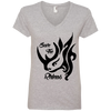 Image of Save the Rhinos Awareness Women's V-Neck T-Shirt
