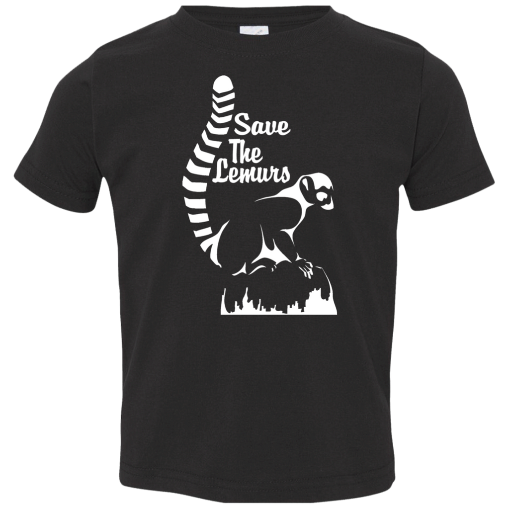 Save the Lemur Awareness Toddler Jersey T-Shirt