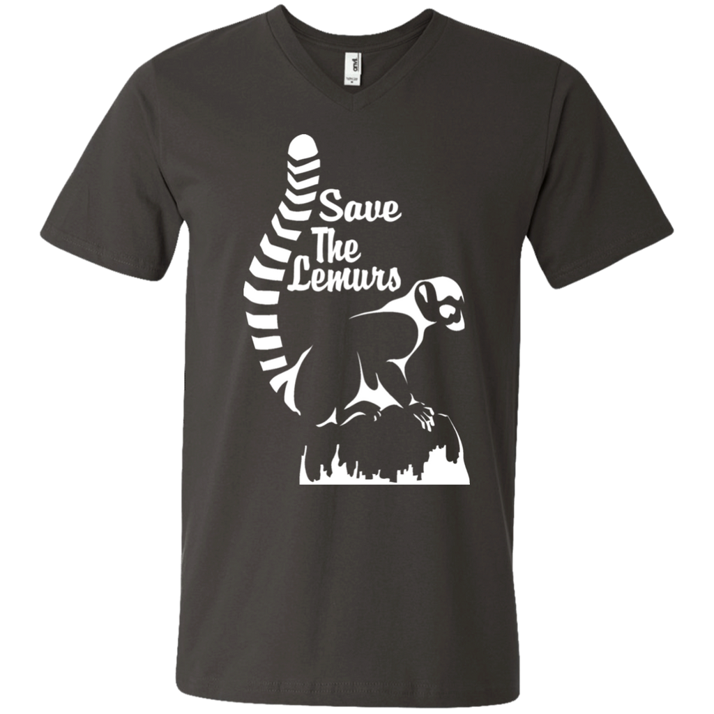 Save the Lemur Awareness Men's V-Neck T-Shirt