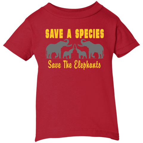 Save the Species Save the Elephants Awareness Infant T-Shirt