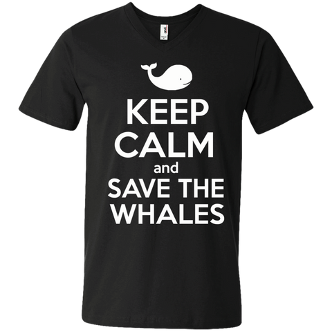 Keep Calm And Save the Whales Mens V-Neck T-Shirt