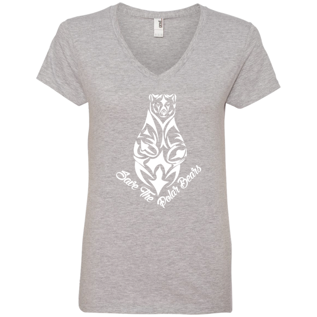 Save the Polar Bears Awareness Women's V-Neck T-Shirt