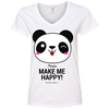 Image of Pandas Make Me happy, You Not so Much Women's V-Neck T-Shirt