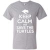Image of Keep Calm And Save the Turtles Men's V-Neck T-Shirt